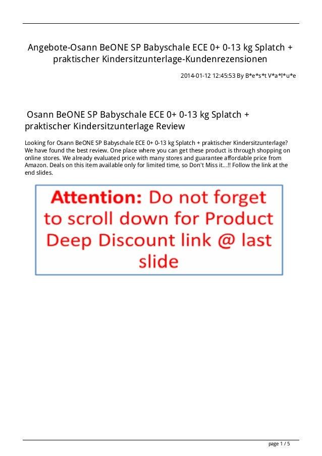 Angebote-Osann BeONE SP Babyschale ECE 0+ 0-13 kg Splatch + praktischer Kindersitzunterlage-Kundenrezensionen 2014-01-12 1...