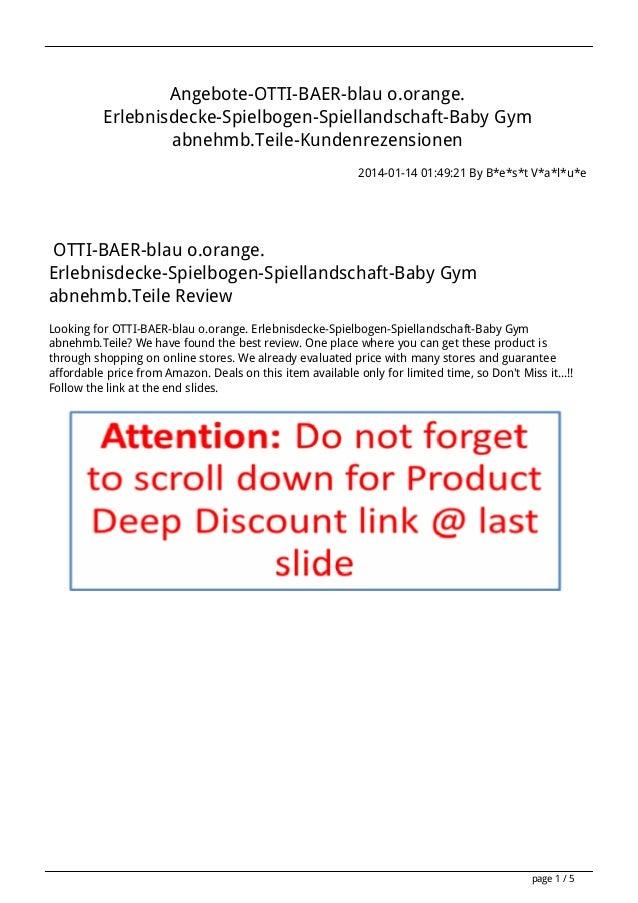 Angebote-OTTI-BAER-blau o.orange. Erlebnisdecke-Spielbogen-Spiellandschaft-Baby Gym abnehmb.Teile-Kundenrezensionen 2014-0...