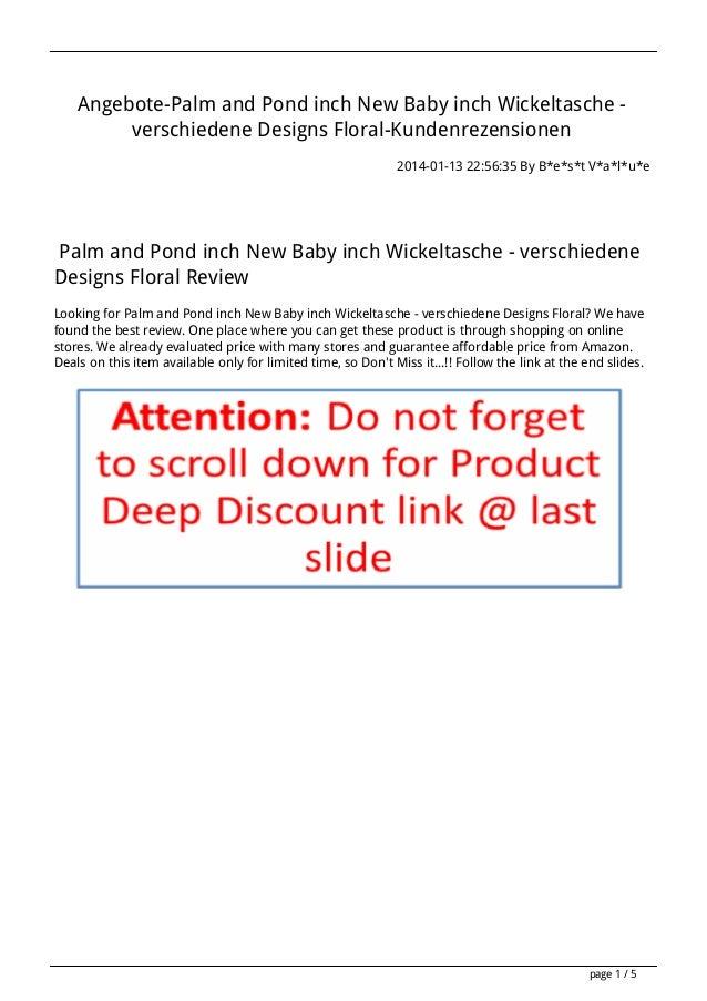 Angebote-Palm and Pond inch New Baby inch Wickeltasche verschiedene Designs Floral-Kundenrezensionen 2014-01-13 22:56:35 B...