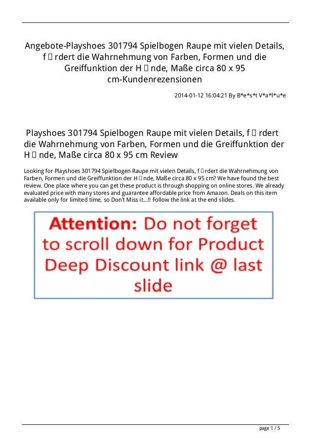 Angebote-Playshoes 301794 Spielbogen Raupe mit vielen Details, fördert die Wahrnehmung von Farben, Formen und die Greiffun...