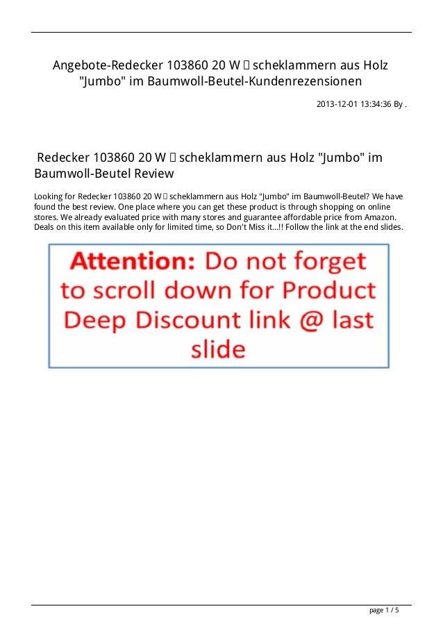 """Angebote-Redecker 103860 20 Wäscheklammern aus Holz """"Jumbo"""" im Baumwoll-Beutel-Kundenrezensionen 2013-12-01 13:34:36 By . ..."""