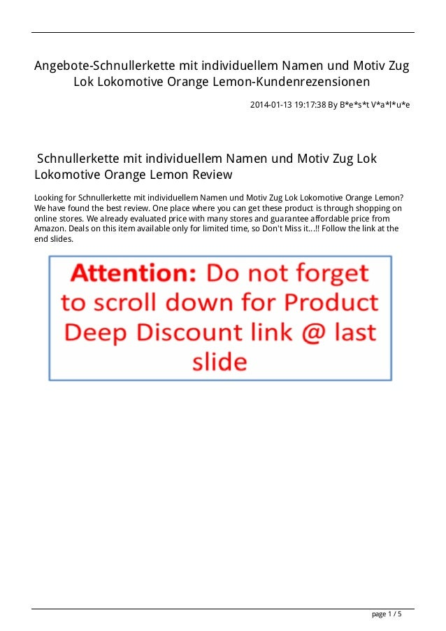 Angebote-Schnullerkette mit individuellem Namen und Motiv Zug Lok Lokomotive Orange Lemon-Kundenrezensionen 2014-01-13 19:...