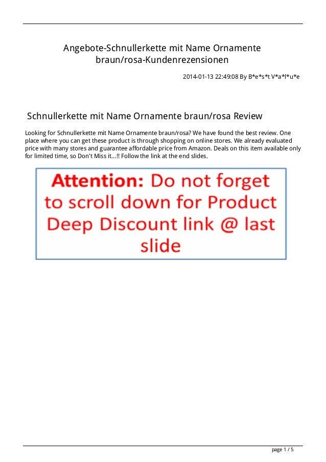 Angebote-Schnullerkette mit Name Ornamente braun/rosa-Kundenrezensionen 2014-01-13 22:49:08 By B*e*s*t V*a*l*u*e  Schnulle...