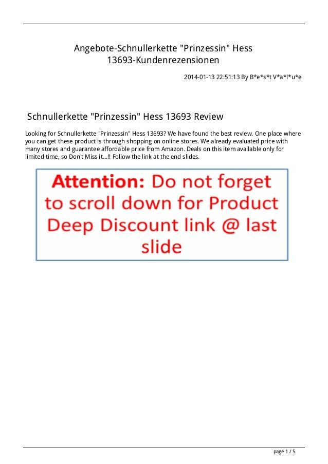 "Angebote-Schnullerkette ""Prinzessin"" Hess 13693-Kundenrezensionen 2014-01-13 22:51:13 By B*e*s*t V*a*l*u*e  Schnullerkette..."