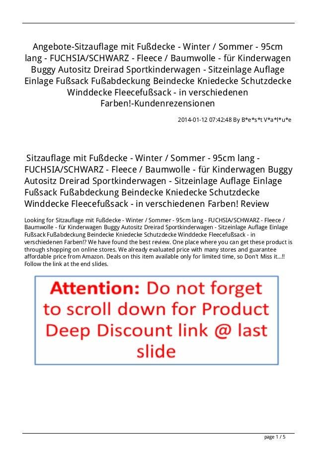 Angebote-Sitzauflage mit Fußdecke - Winter / Sommer - 95cm lang - FUCHSIA/SCHWARZ - Fleece / Baumwolle - für Kinderwagen B...