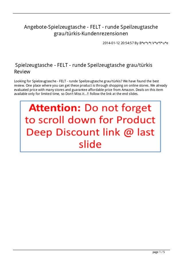 Angebote-Spielzeugtasche - FELT - runde Speilzeugtasche grau/türkis-Kundenrezensionen 2014-01-12 20:54:57 By B*e*s*t V*a*l...