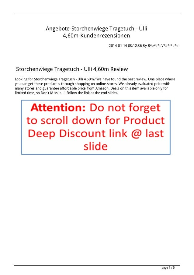 Angebote-Storchenwiege Tragetuch - Ulli 4,60m-Kundenrezensionen 2014-01-14 08:12:36 By B*e*s*t V*a*l*u*e  Storchenwiege Tr...
