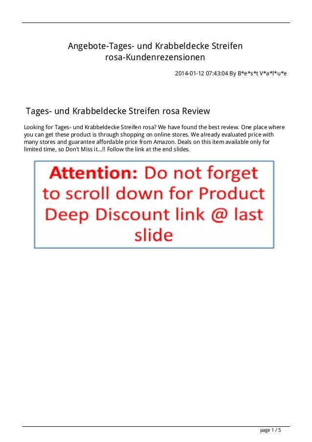 Angebote-Tages- und Krabbeldecke Streifen rosa-Kundenrezensionen 2014-01-12 07:43:04 By B*e*s*t V*a*l*u*e  Tages- und Krab...