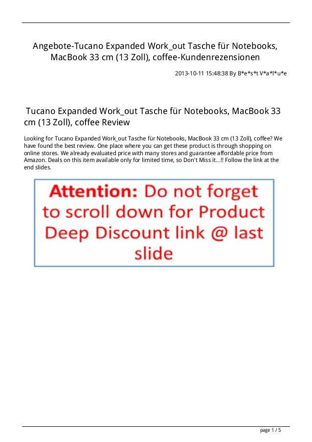 Angebote-Tucano Expanded Work_out Tasche für Notebooks, MacBook 33 cm (13 Zoll), coffee-Kundenrezensionen 2013-10-11 15:48...