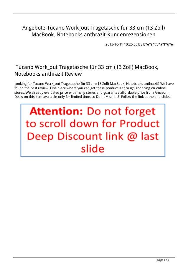 Angebote-Tucano Work_out Tragetasche für 33 cm (13 Zoll) MacBook, Notebooks anthrazit-Kundenrezensionen 2013-10-11 10:25:5...