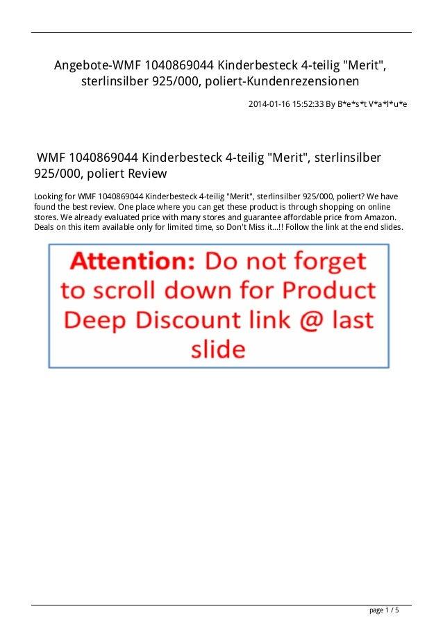 "Angebote-WMF 1040869044 Kinderbesteck 4-teilig ""Merit"", sterlinsilber 925/000, poliert-Kundenrezensionen 2014-01-16 15:52:..."