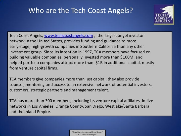 Angel Investments And Nigerian Email Scams