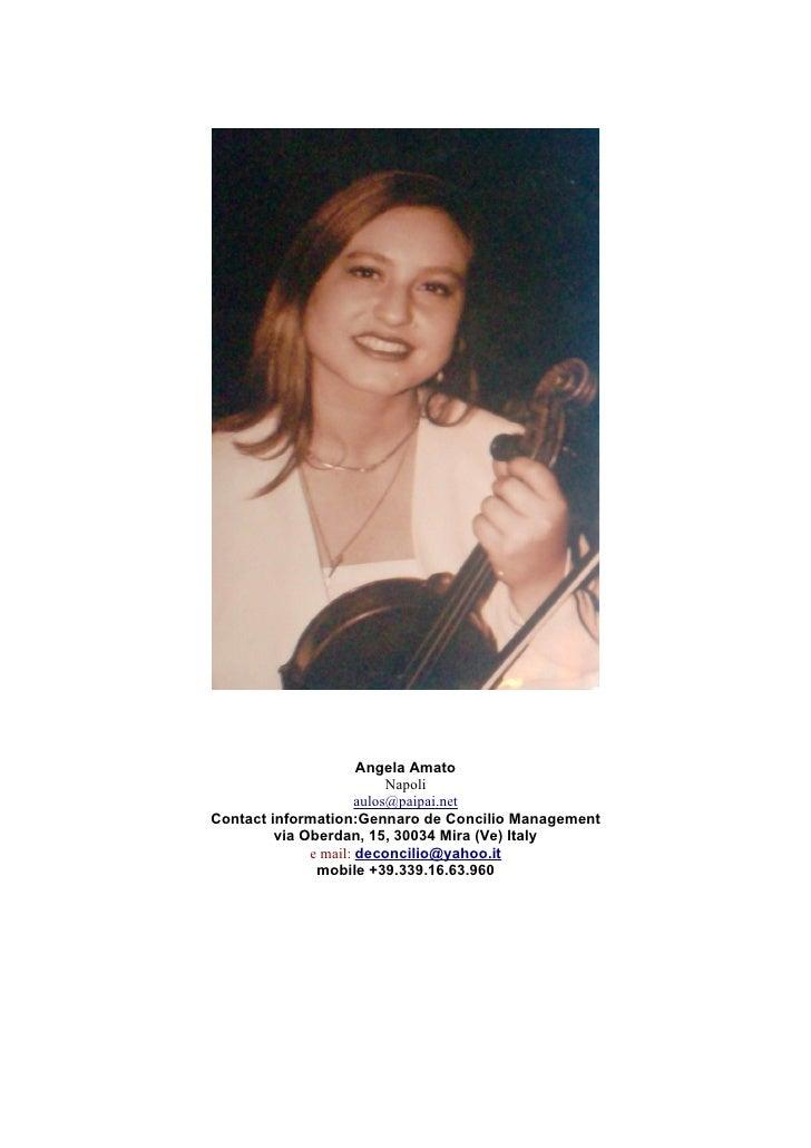 angela amato curriculum artistico pdf