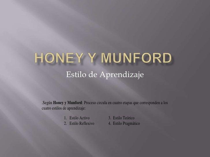 Honey y Munford<br />Estilo de Aprendizaje<br />