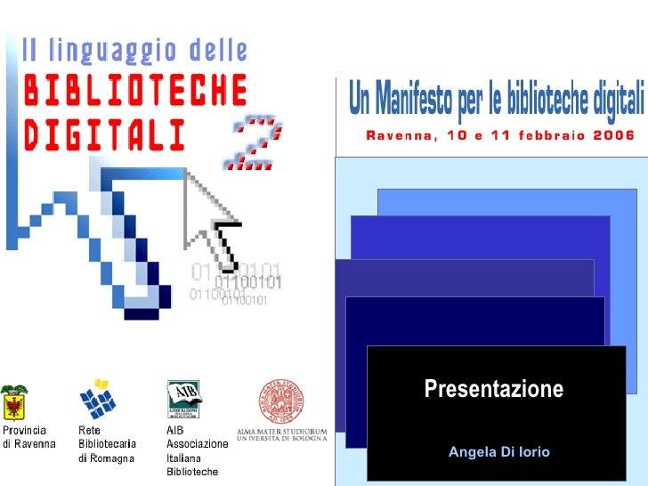 Presentazione Angela Di Iorio