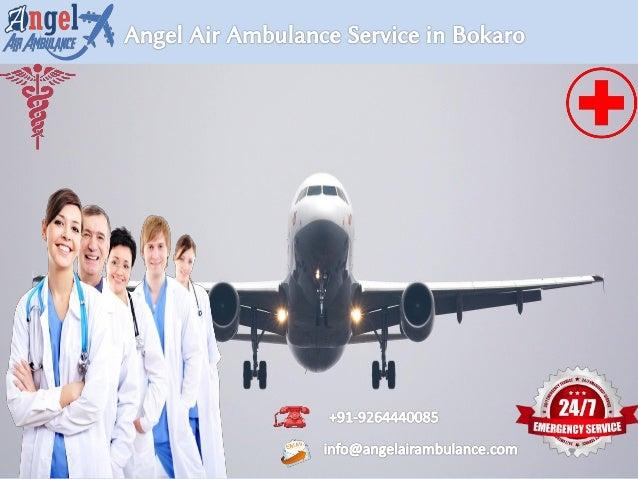 angel air ambulance service in bokaro with supreme ventilator facility 1 638