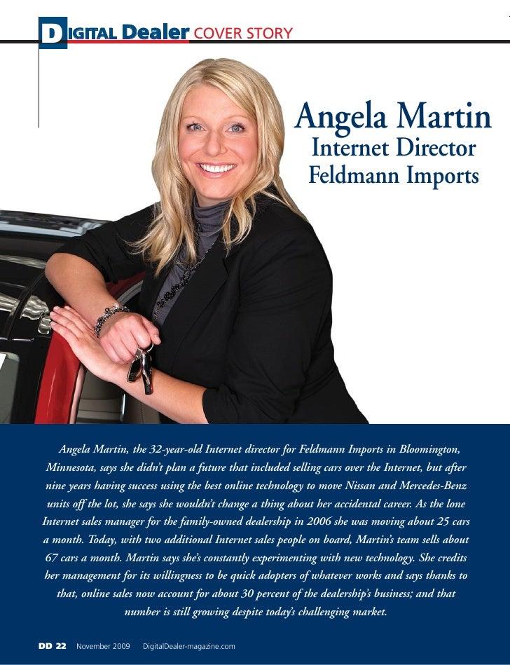 D IGITAL Dealer COVER STORY                                                            Angela Martin                      ...