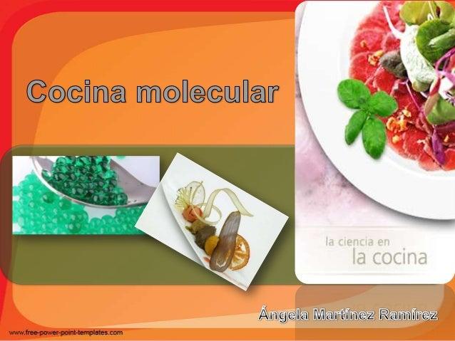 Angela martinez ramirez aet 201 cocina molecular 1 for Padre de la cocina molecular