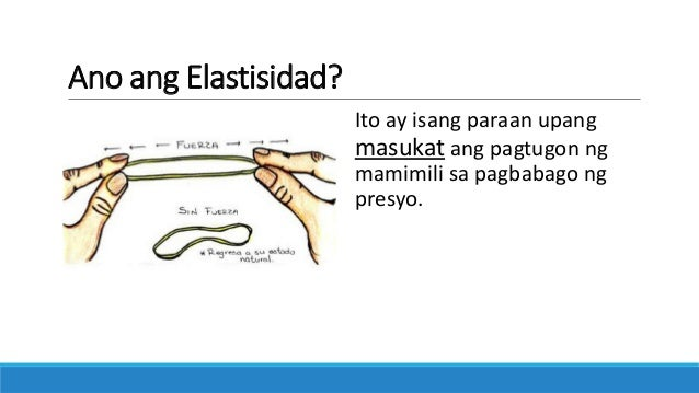 Elasticity of Demand (Filipino) Slide 2