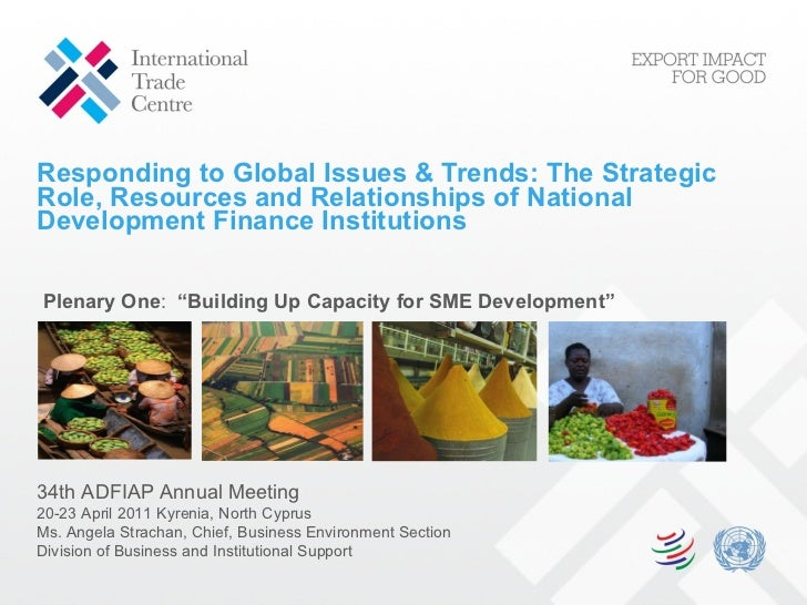 Responding to Global Issues & Trends: The Strategic Role, Resources and Relationships of National Development Finance Inst...