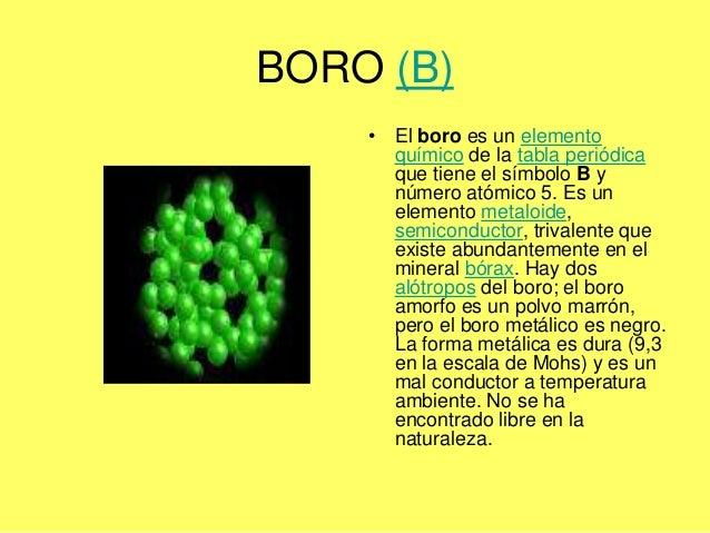 Angeles boro b el boro es un elemento qumico de la tabla peridica urtaz Gallery