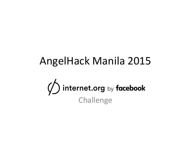 AngelHack Manila 2015 Challenge