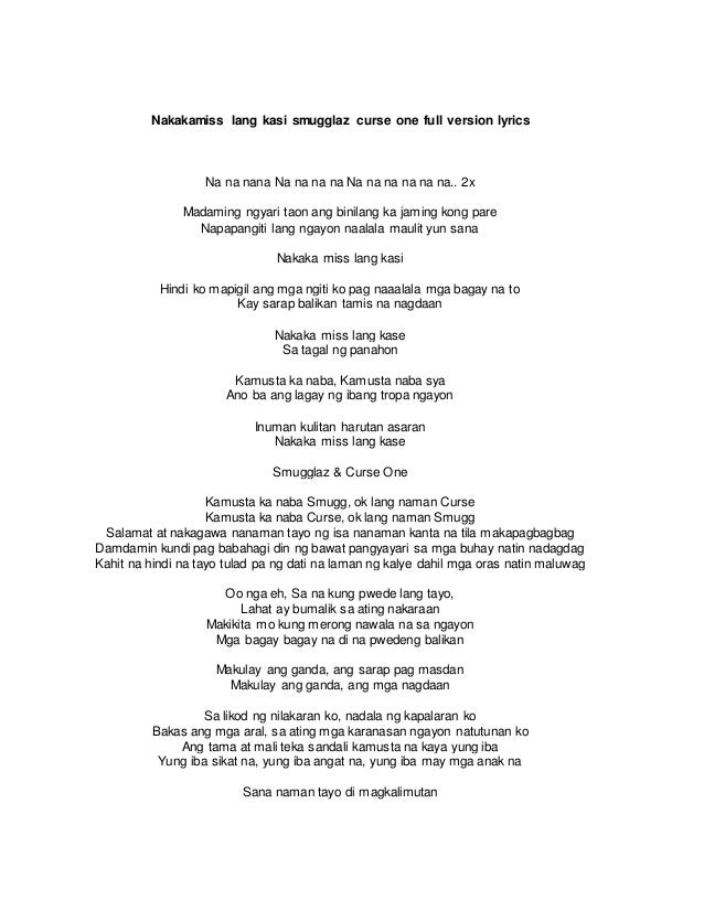 Kamusta ka lyrics - 1 5