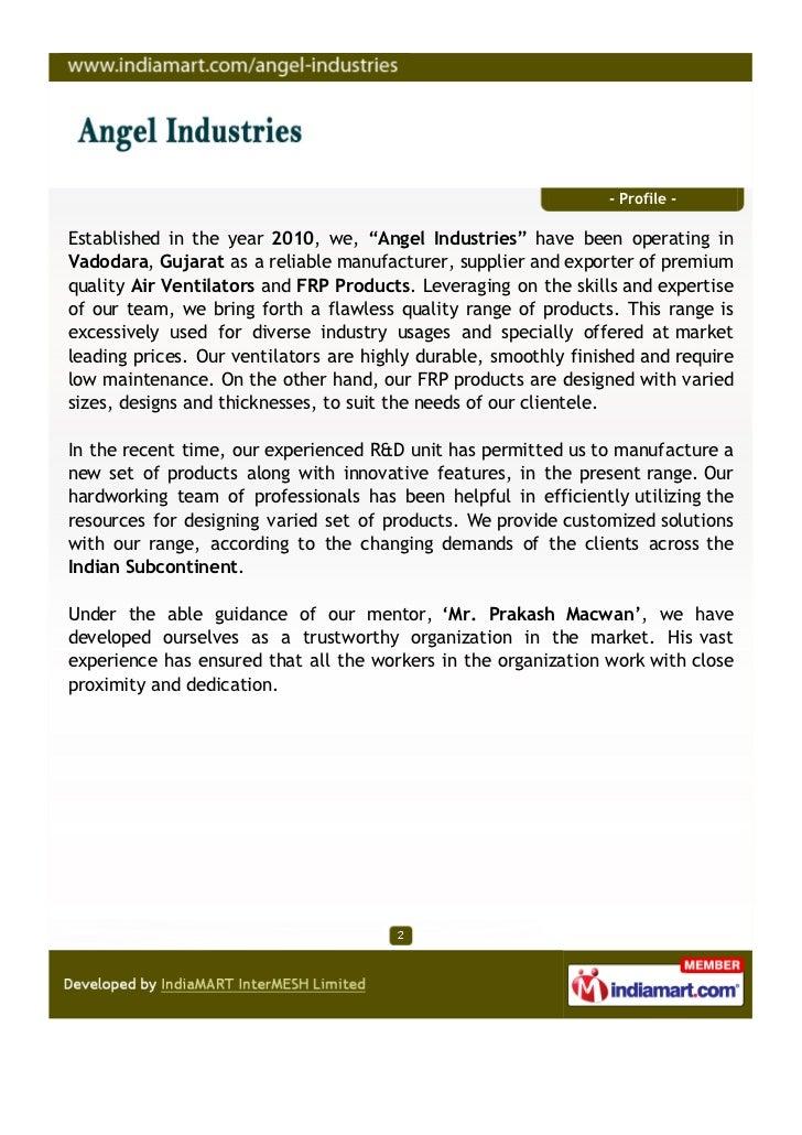 Angel Industries, Vadodara, FRP Products Slide 2