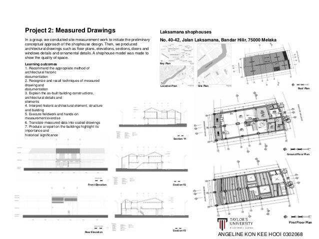 Section Y1  Section Y2  Section Y3  Project 2: Measured Drawings  Learning outcomes  1. Recommend the appropriate method o...