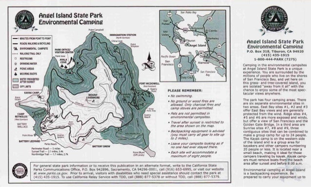 Angel Island State Park Campground Map