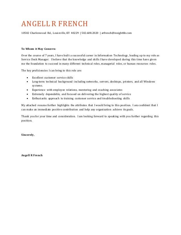 To Whom It May Concern Cover Letter Pdf How To Format A