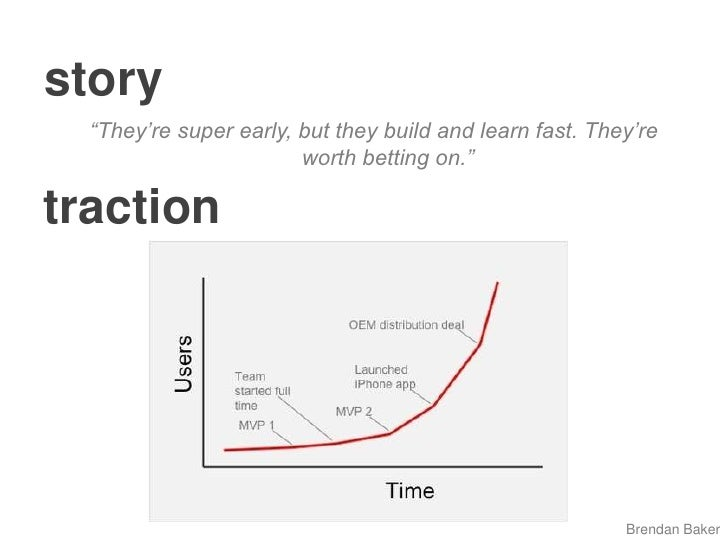 """story<br />""""They're super early, but theybuild and learn fast. They're worth betting on.""""<br />traction<br />Brendan Baker..."""