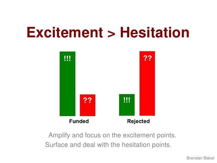 Excitement > Hesitation<br />Amplify and focus on the excitement points. <br />Surface and deal with the hesitation points...