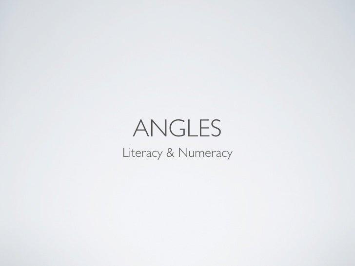 ANGLES Literacy & Numeracy
