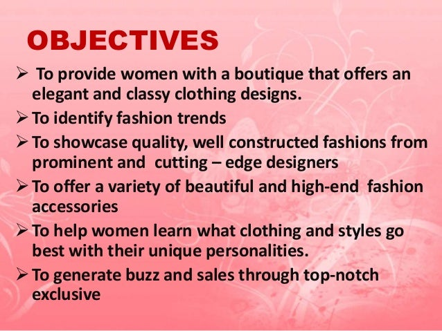 business plan for boutique
