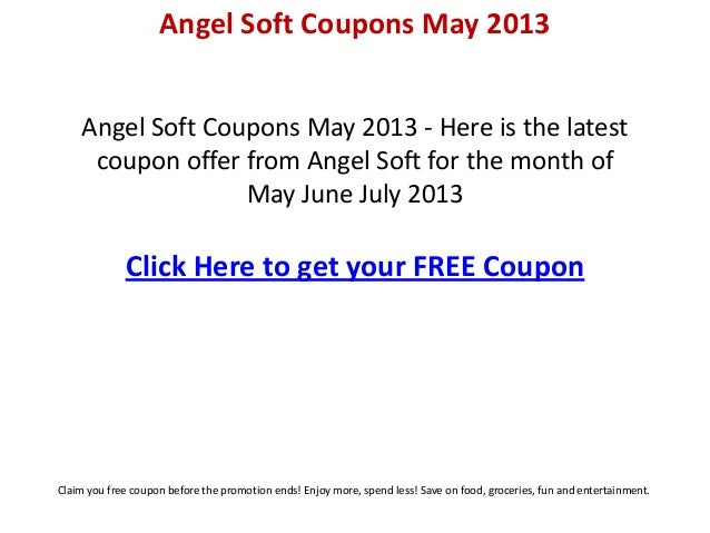 picture relating to Angel Soft Printable Coupon known as Angel gentle discount coupons could 2013