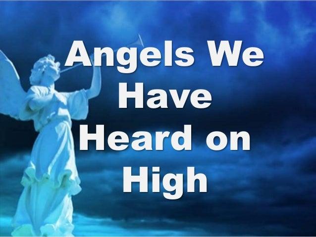 Angels We Have Heard on High - - CyberHymnal