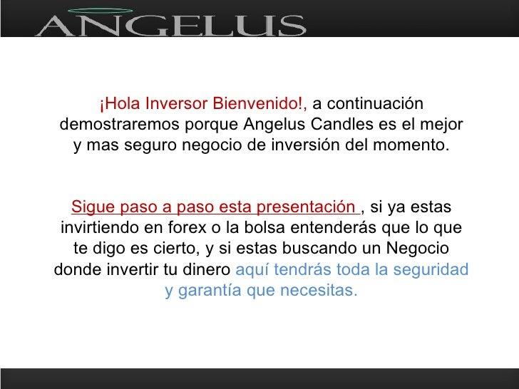 ¡Hola Inversor Bienvenido!, a continuación demostraremos porque Angelus Candles es el mejor  y mas seguro negocio de inver...