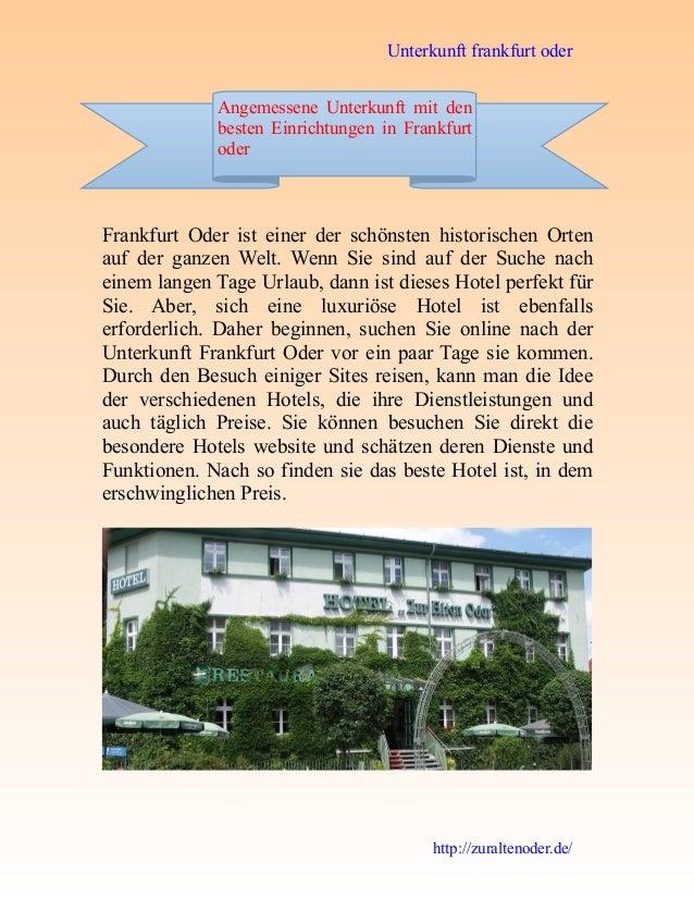 Unterkunft frankfurt oder http://zuraltenoder.de/ Frankfurt Oder ist einer der schönsten historischen Orten auf der ganzen...
