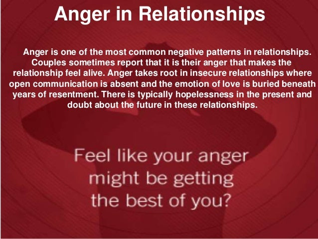 how to get rid of anger in a relationship