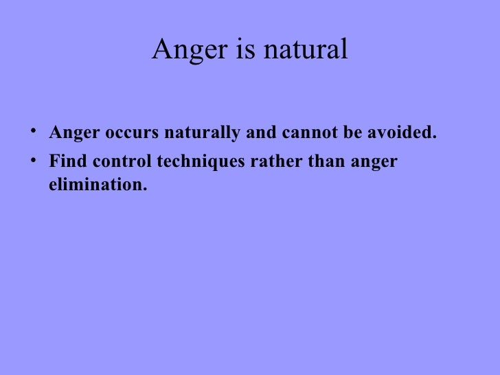 Image result for Anger is natural