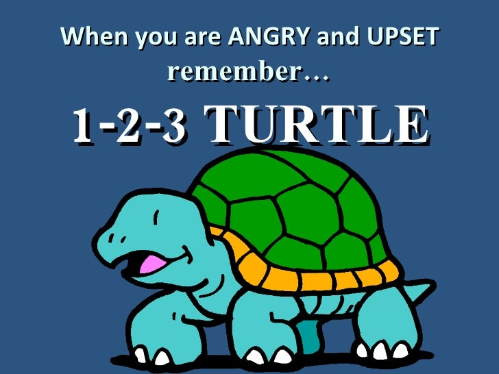 When you are ANGRY and UPSET remember… 1-2-3 TURTLE