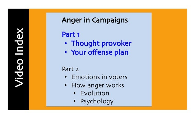 Why Voters Are Angry Part I >> Anger in Election Campaign part 1