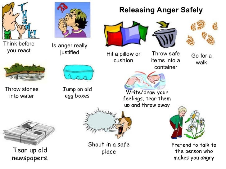 Think before you react Is anger really justified Releasing Anger Safely Hit a pillow or cushion Throw safe items into a co...