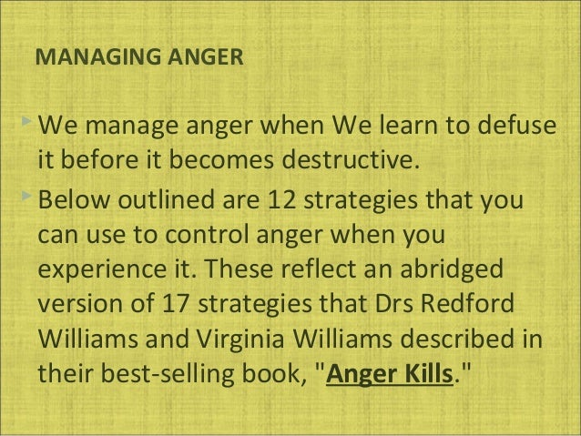 How to control anger strategies