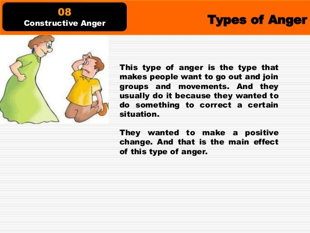 Types of Anger This type of anger is the one that easily comes and goes. The magnitude of this anger varies too. It could ...