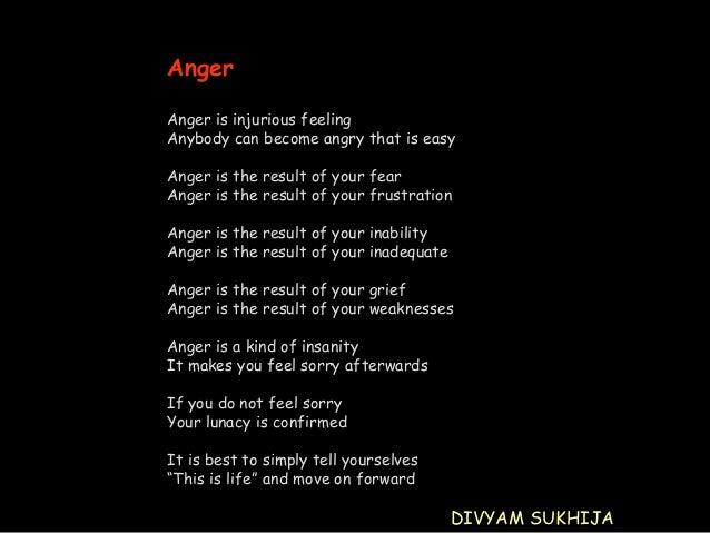 Anger management a speech