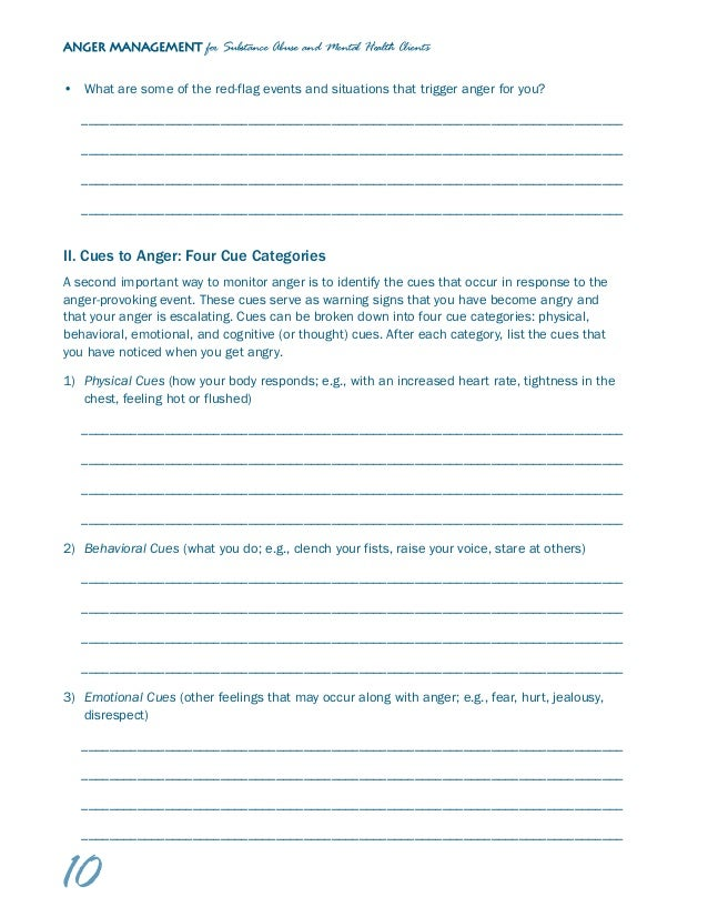 Abuse Triggers Worksheet Delibertad – Substance Abuse Worksheets