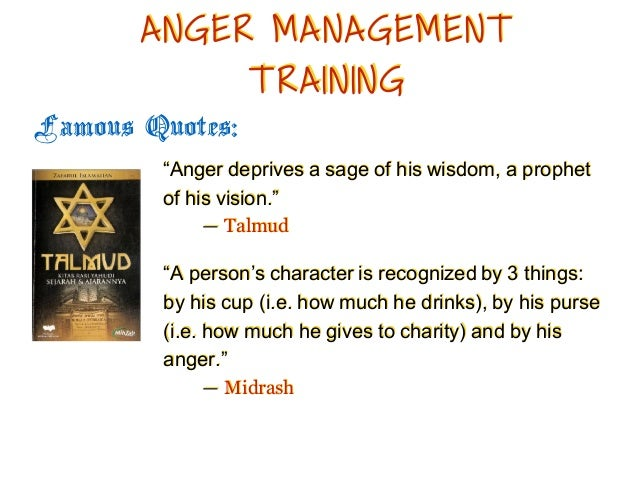 Anger Management From A Biblical Perspective