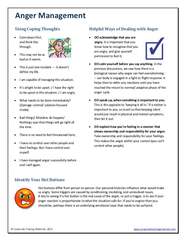 Anger management sample – Anger Management Worksheets Pdf